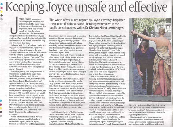 Joyce in Art article